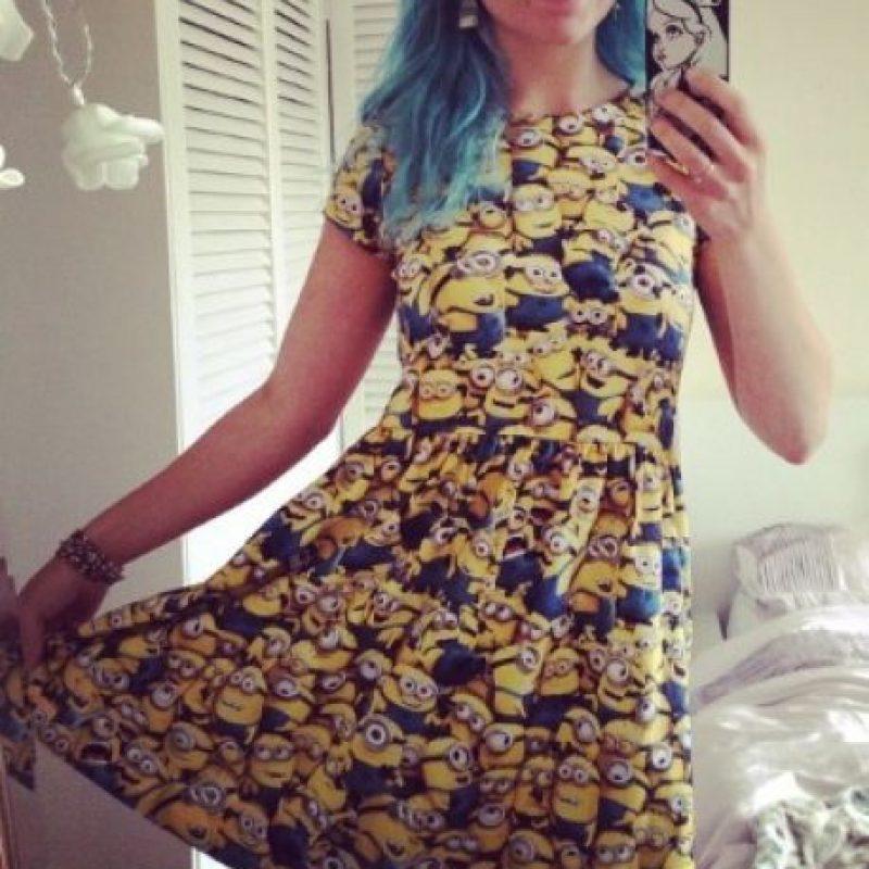 """21.- Un vestido muy coqueto con todo un ejército """"Minion"""" Foto:vía nstagram.com/noveltycharacters"""