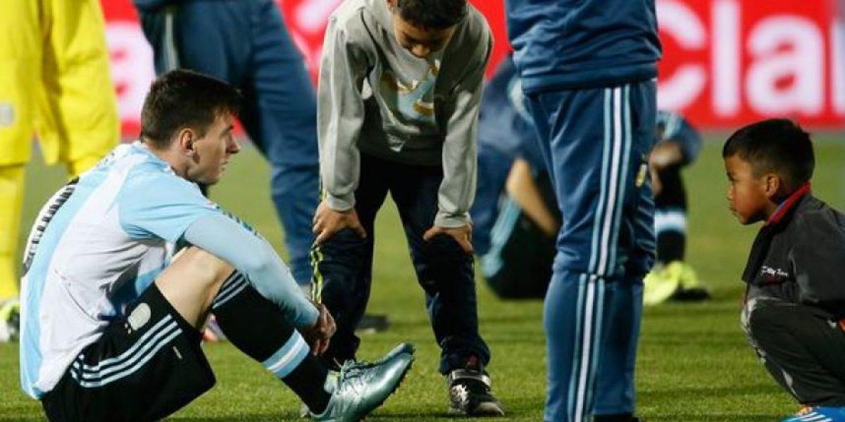 Con estas palabras dos niños consolaron a Messi en la final de la Copa América