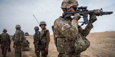 """La primera operación militar de un """"drone"""" estadounidense, en Afganistán. Foto:Getty Images"""