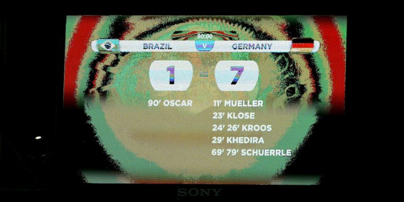 """El resultado fue trágico: 7-1 a favor de la """"Mannschaft"""". Los brasileños quedaron totalmente destrozados. Foto:Getty Images"""