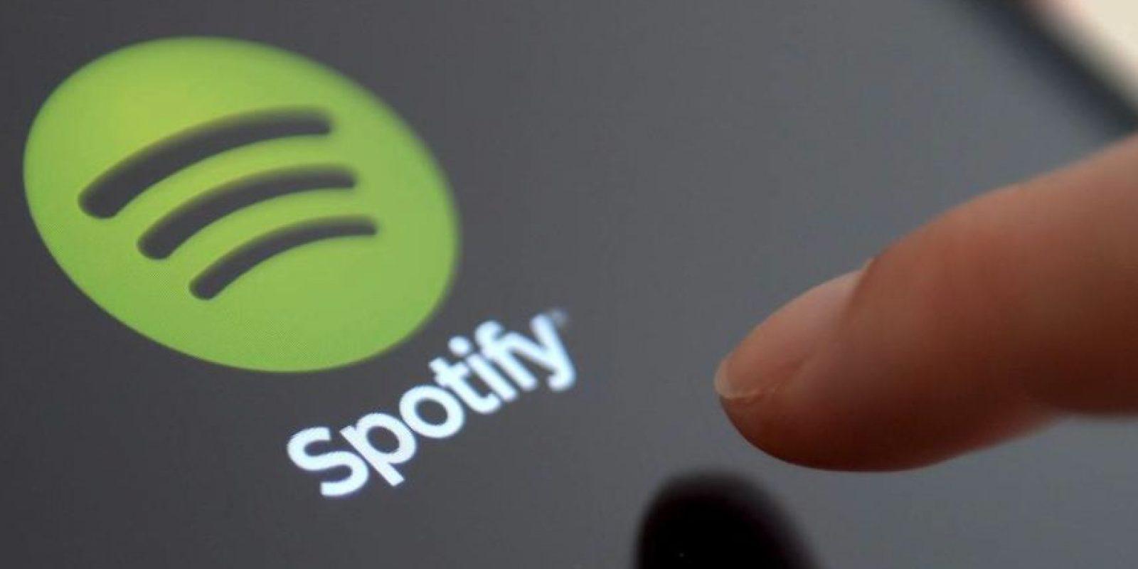 """Spotify, pese a la pérdida reportada en el mes de mayo por 1.22 billones de dólares, sigue siendo el líder actual en el servicio de """"streaming"""" musical Foto:Spotify"""
