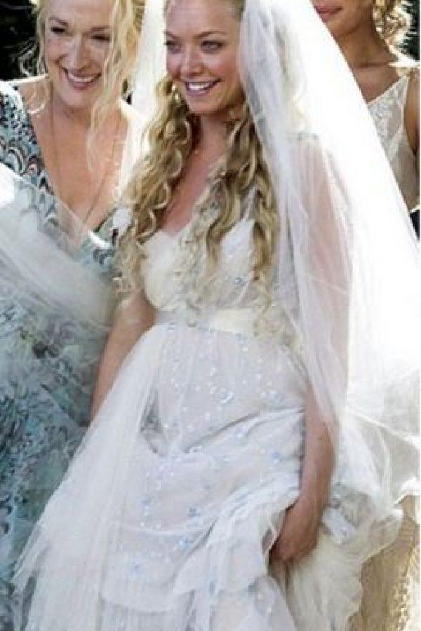 """Se vistió de novia para la cinta """"Mamma mía"""" Foto:Universal"""