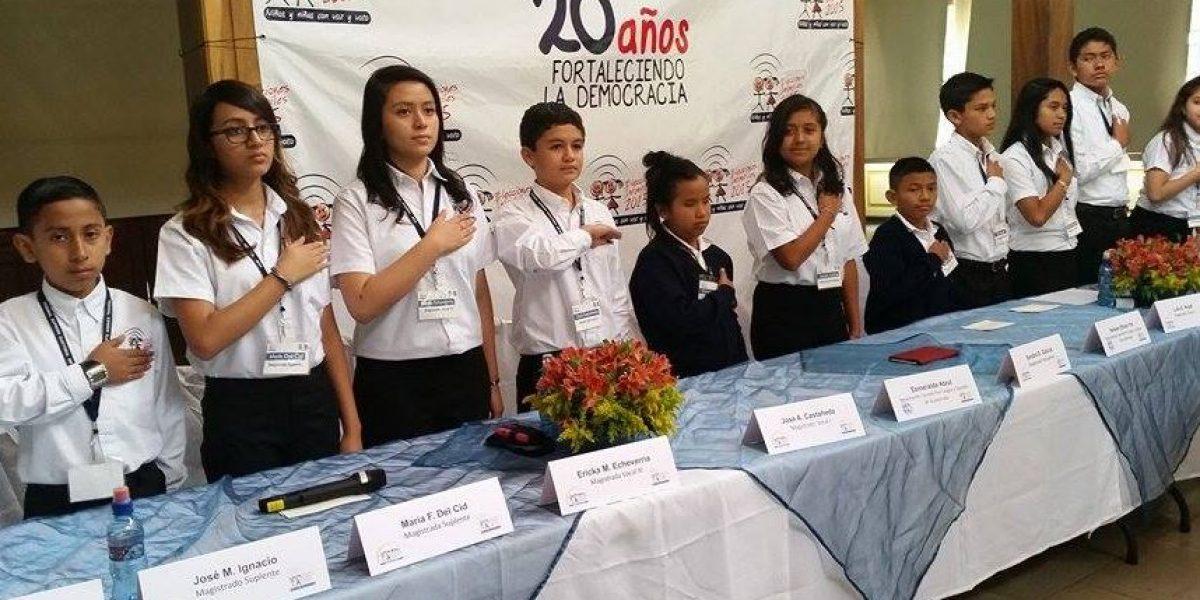 Niños también elegirán un presidente para Guatemala