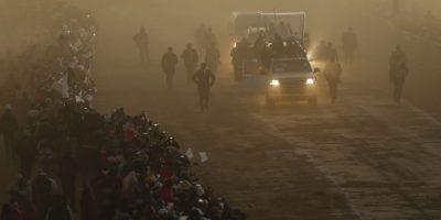 Por cuestiones de la altura del país, solamente estuvo unas horas en La Paz. Foto:AP