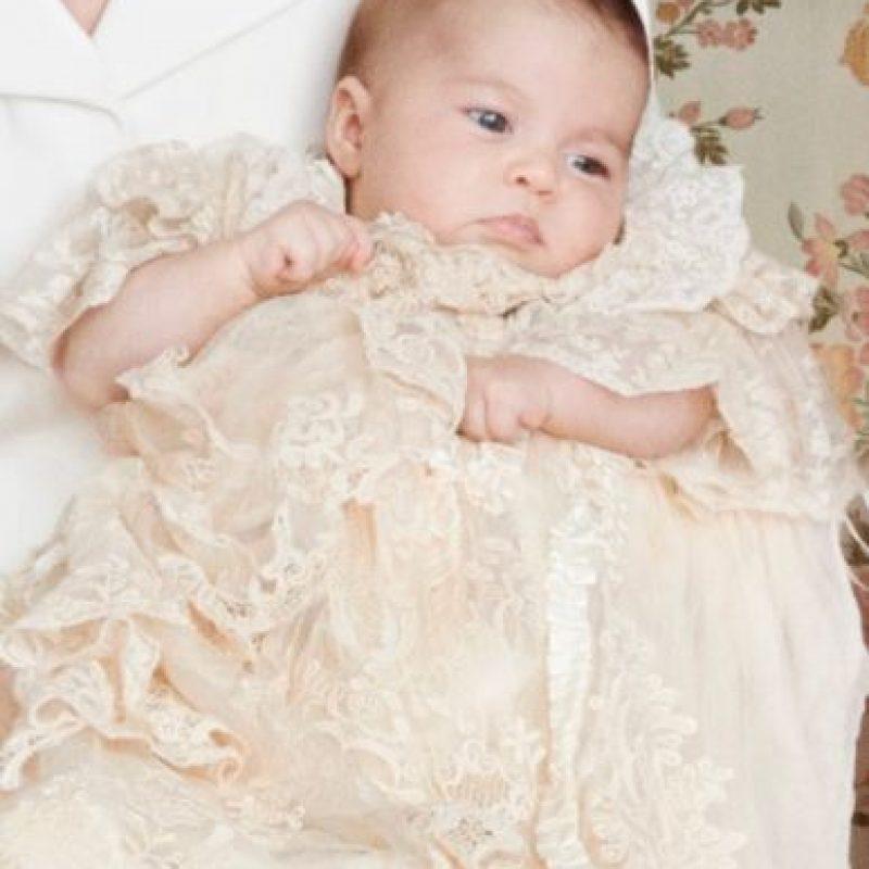 El atuendo de Charlotte era una replica del que portó la princesa real Victoria, hija de la reina Victoria, cuando fue bautizada en 1841. Foto:Getty Images