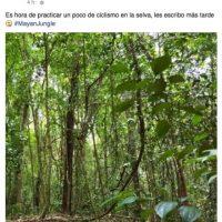 """""""Es hora de practicar un poco de ciclismo en la selva, les escribo más tarde"""", comentó en Facebok. Foto:vía facebook.com/DashBerlinOfficial"""