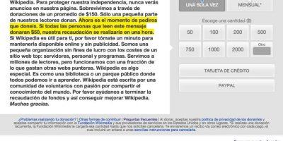 Wikipedia quiere que la ayuden a subsistir. Foto:Wikipedia
