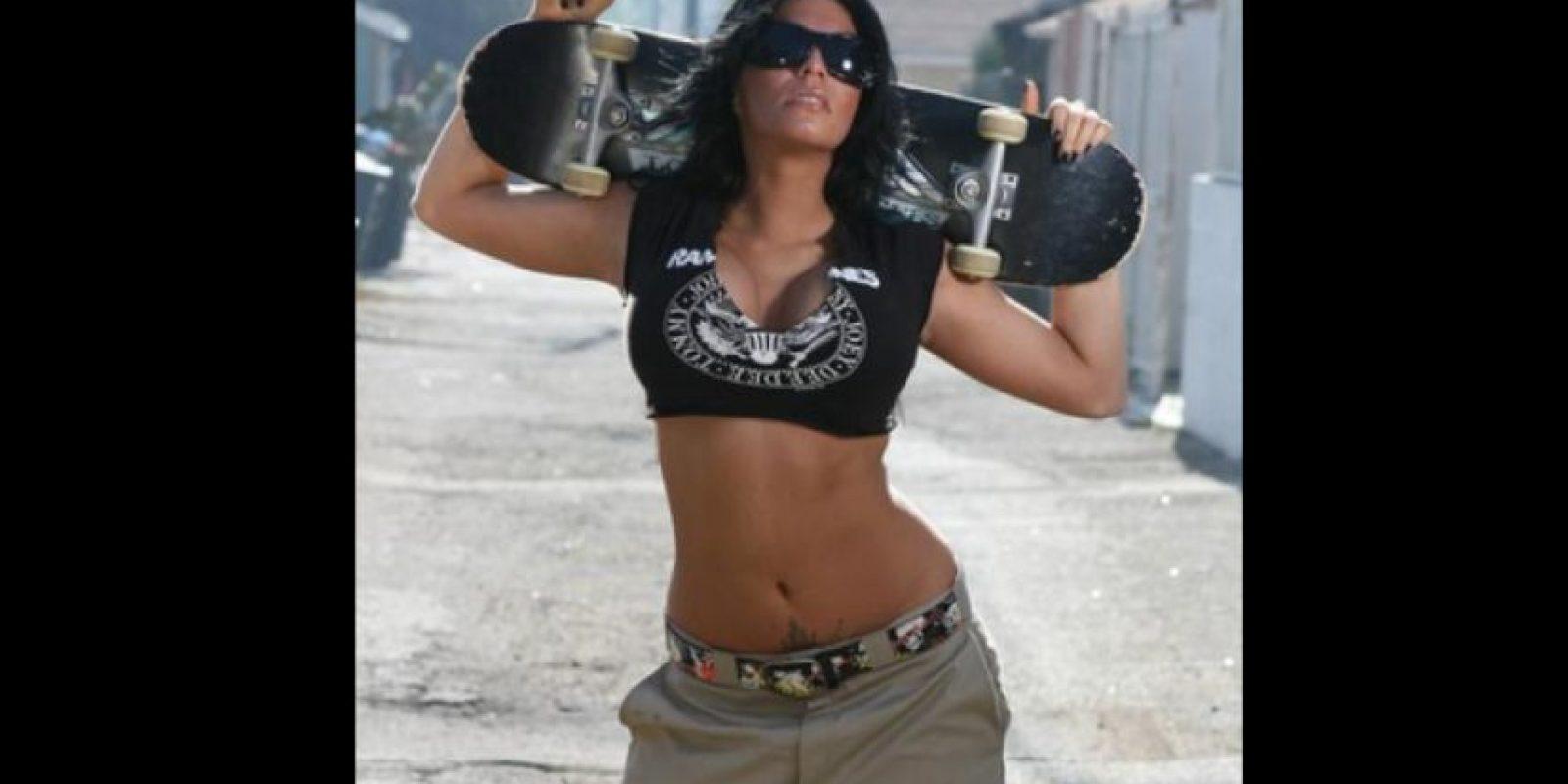 En las redes circula una foto de Shelly Martínez en topless Foto:Vía instagram.com/funtimeshelly