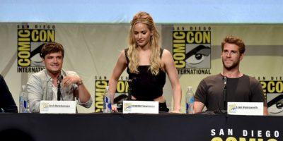 """Josh Hutcherson y Liam Hemsworth animaron a la actriz para que """"presumiera"""" su voz. Foto:Getty Images"""