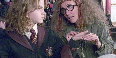 La profesora Trelawney nunca volvió a Hogwarts luego de que Umbridge la despidió. Dumbledore la reemplazó con Firenze, el centauro. Foto:vía Warner Bros