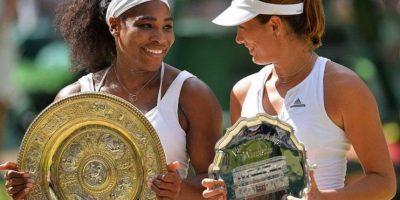 Serena venció en dos sets a Garbiñe Muguruza. Foto:AFP