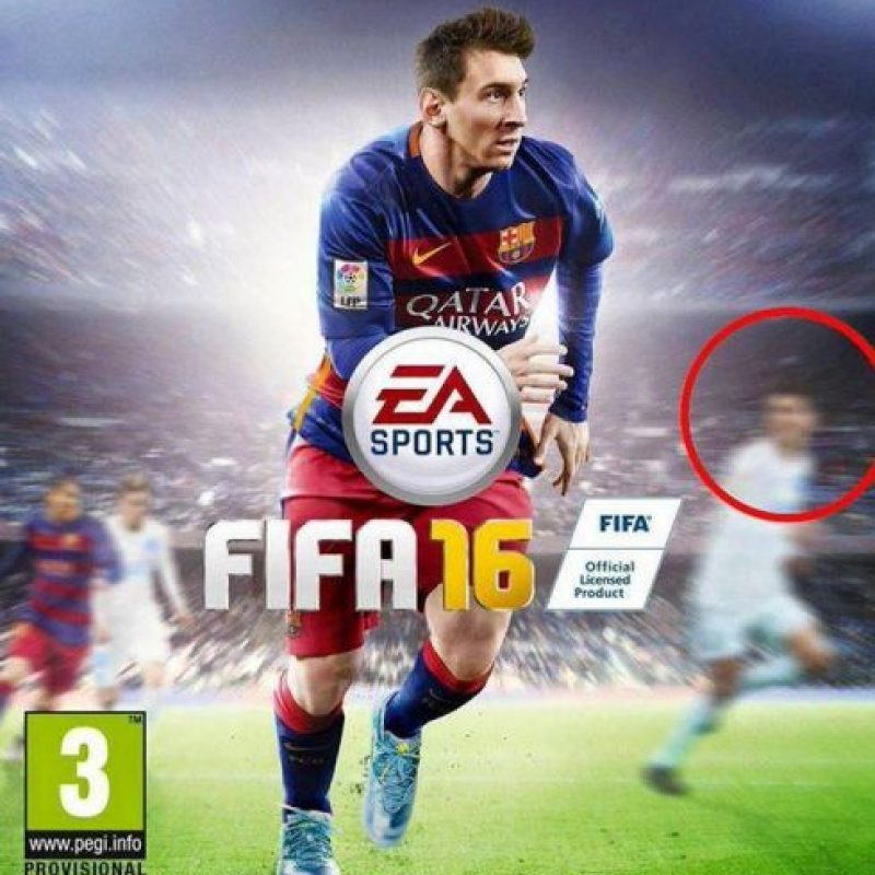 """Aunque Messi es la estrella de la portada, Cristiano Ronaldo también aparece en el """"FIFA 16"""". Foto:Twitter"""