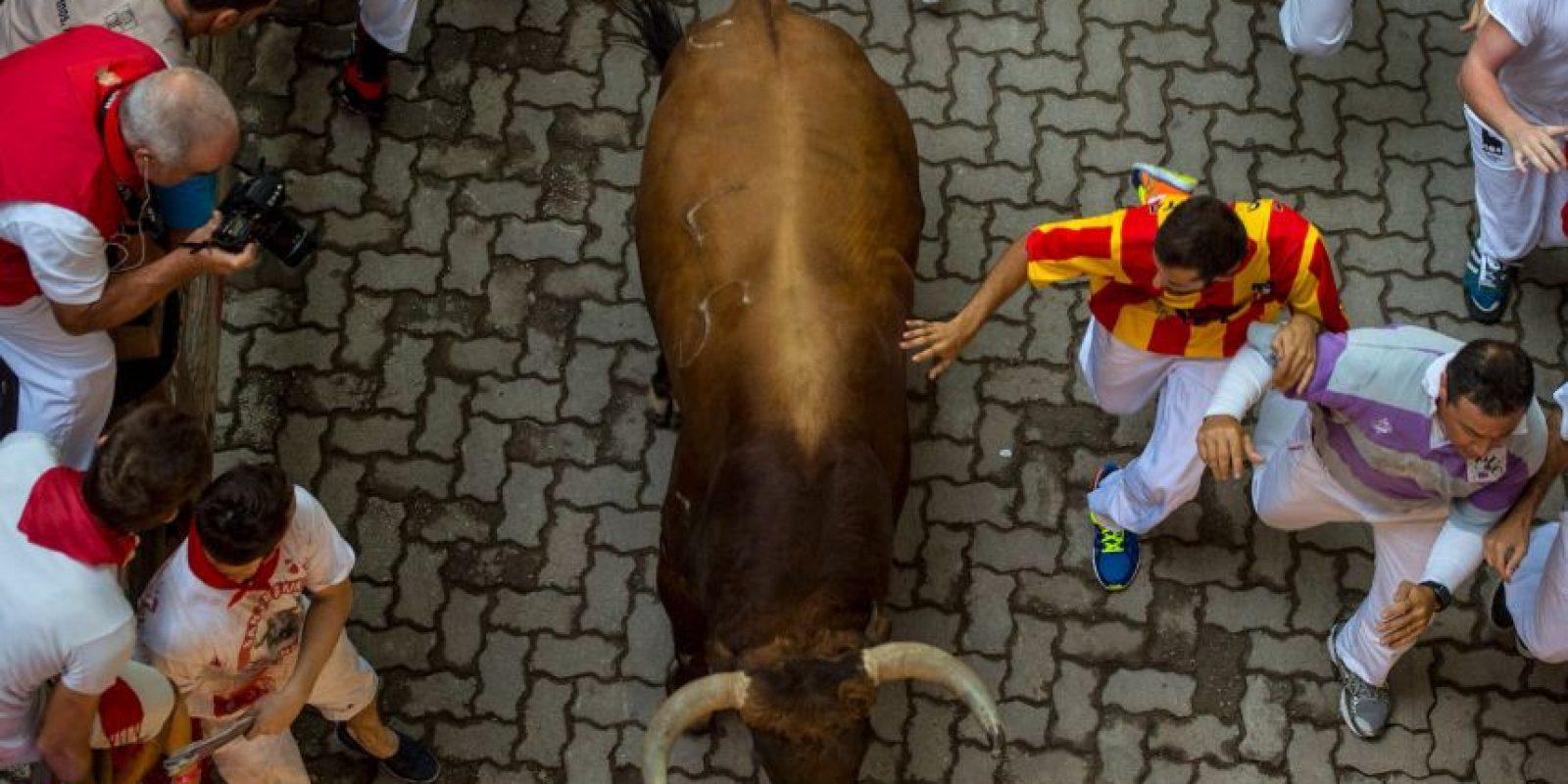 Las Fiestas de San Fermín, o sanfermines, es una celebración en honor a San Fermín de Amiens. Foto:Getty Images