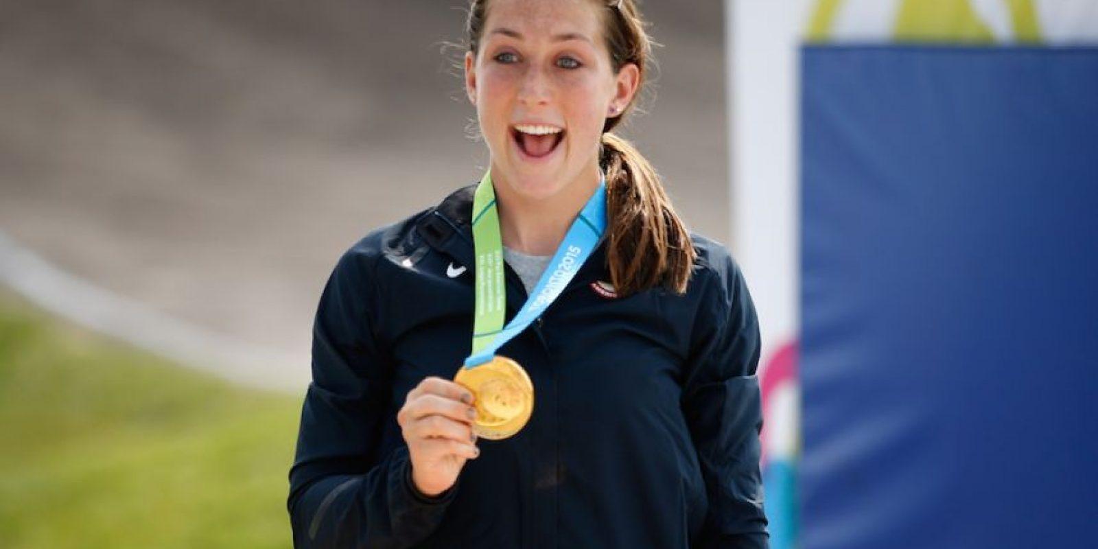 Felicia Stancil de Estados Unidos ganó oro en BMX femenino. Foto:Getty Images
