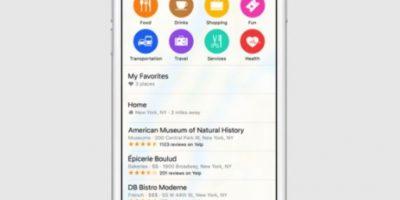 Se mostrará información de sitios de interés. Foto:Apple