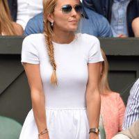 Así lució en la final Jelena Ristic, esposa de Novak Djokovic. Foto:Getty Images