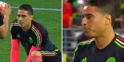 El portero mexicano se cortó el cabello. Foto:Twitter