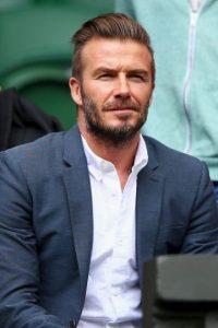 David Beckham fue fotografiado en dos ocasiones en el All England Club. Foto:Getty Images