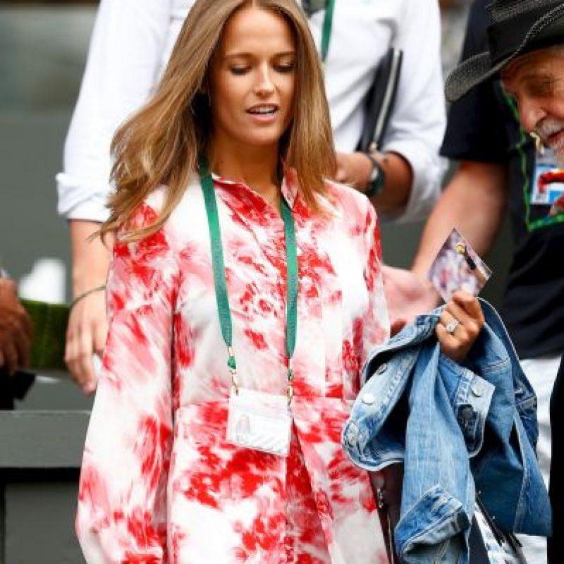 Kim Murray, esposa de Andy Murray, fue de las mujeres mejor vestidas del torneo. Foto:Getty Images