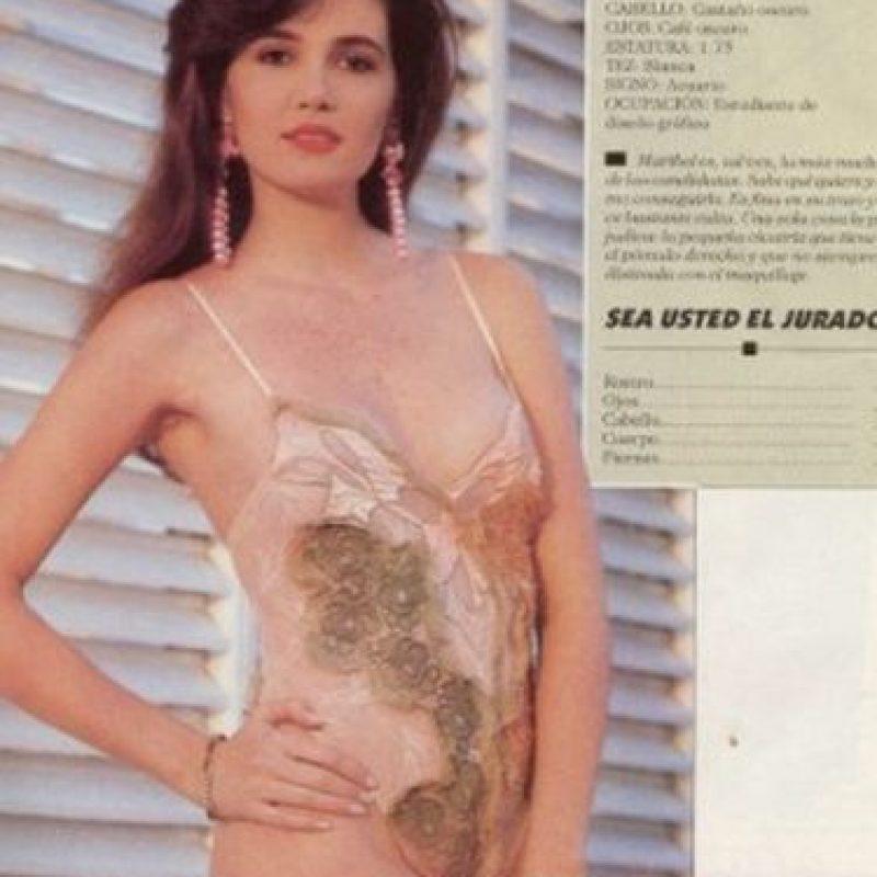 Candidata a a Miss Atlántico en 1990, representaba a Colombia Foto:Vía colarte.com