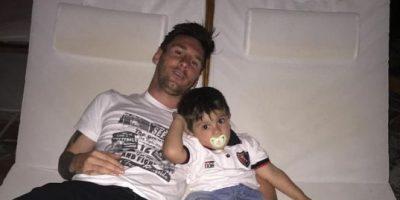 """Hijo de Lionel Messi es """"hincha"""" de Newell's Old Boys"""