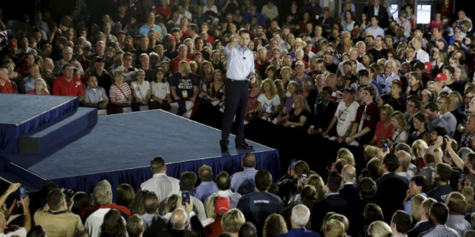 Sin embargo, hizo oficial su candidatura en Waukesha, una ciudad ubicada en Wisconsin. Foto:AP