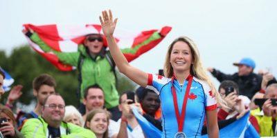 La canadiense ganó el oro en ciclismo de montaña Foto:Getty Images