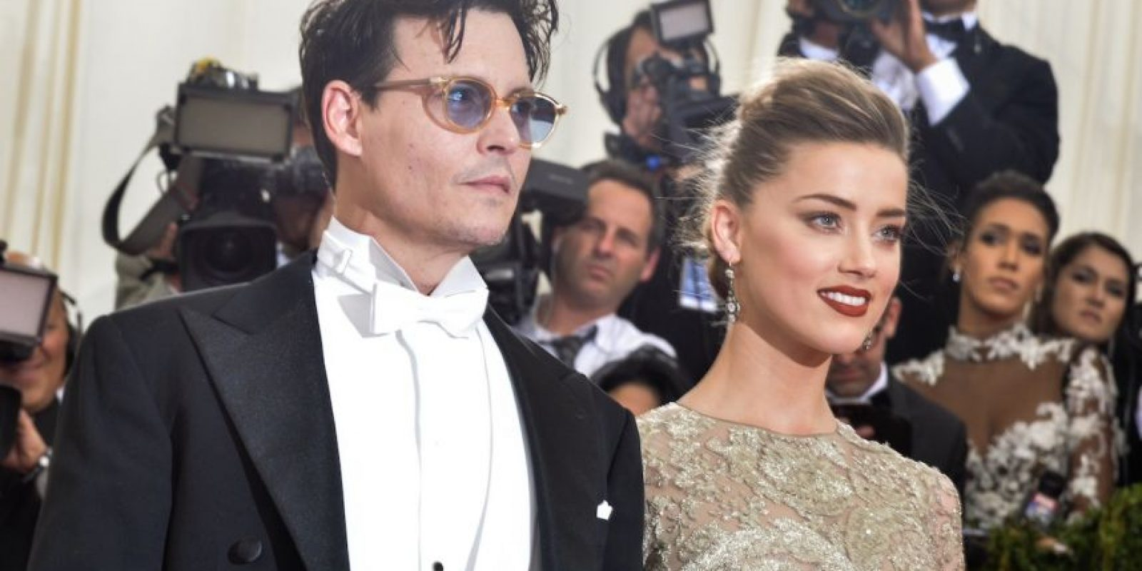 El 3 de febrero, Depp de 51 años y Heard de 28 contrajeron matrimonio Foto:Getty Images