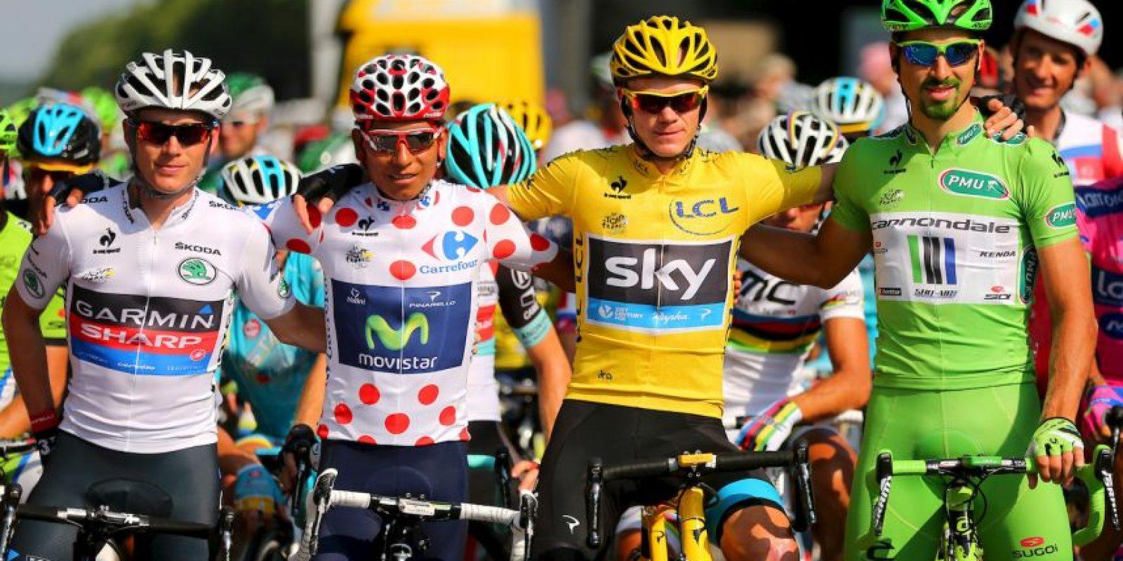 Durante el Tour de Francia los ciclistas tienen derecho a usar cuatro tipos de camisetas. Foto:Getty Images
