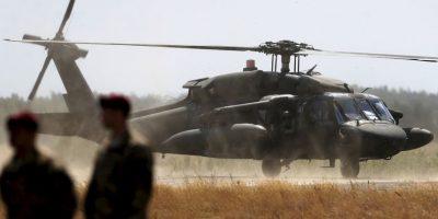 Las imágenes fueron tomadas por otro helicóptero que lo sobrevolaba. Foto:AP