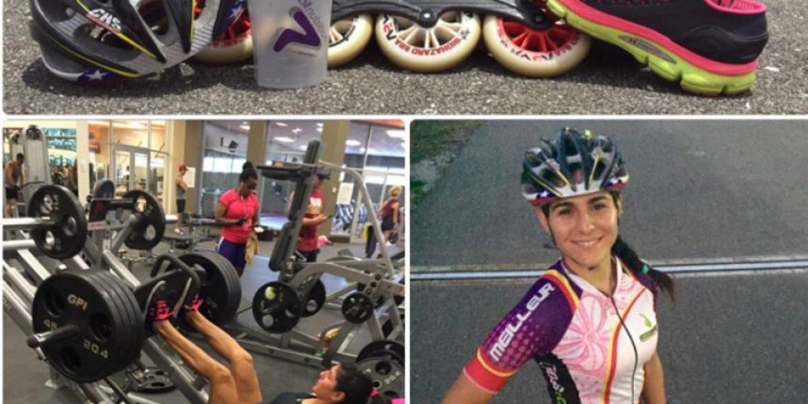La chilena se hizo con un metal de bronce en la prueba de 200 metros contrarreloj de patinaje Foto:Vía twitter.com/pepitah1