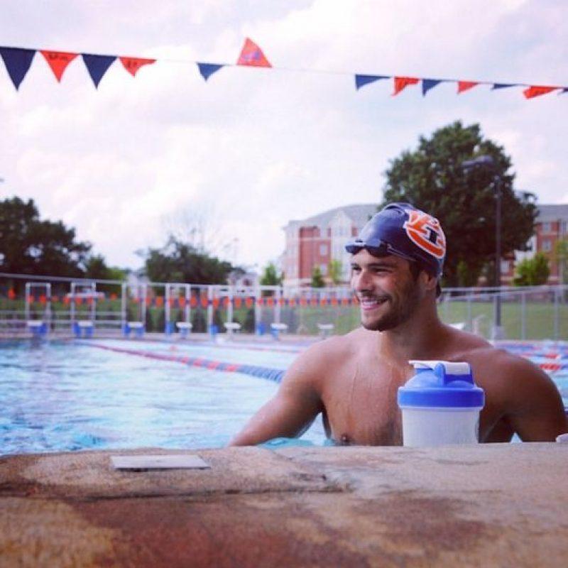 Bronce en natación, estilo libre 100 metros. Foto:Vía instagram.com/mchierighini