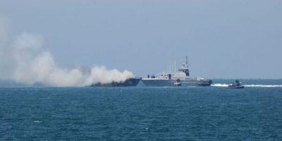 El ataque se realizó justo en el mar Mediterráneo. Foto:AFP