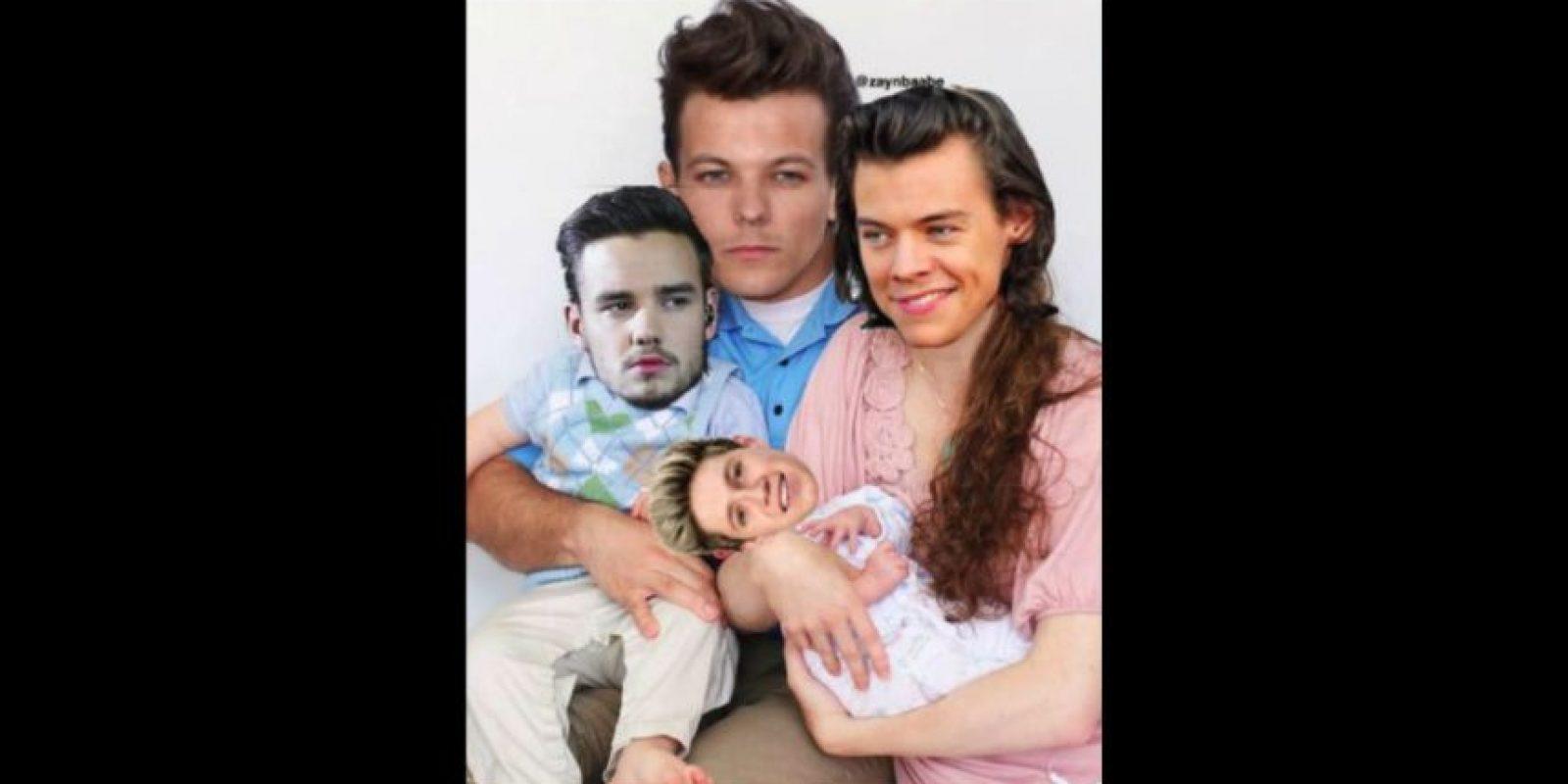 Así sería la familia de One Direction Foto:vía Twitter