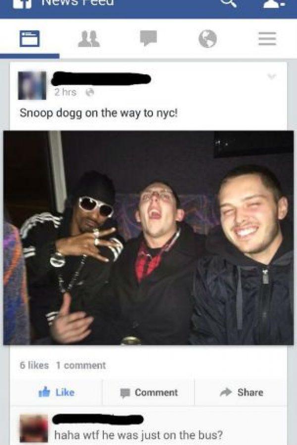 Ellos creyeron que el rapero Snoop Dogg era su nuevo amigo Foto:vía collegehumor.com