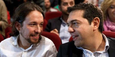 Pablo Iglesias, dirigente de Podemos y uno de los más allegados a Tsipras Foto:Getty Images
