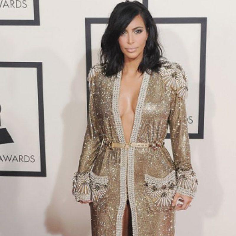 Este fue el criticado Gaultier de Kardashian. Foto:vía Getty Images