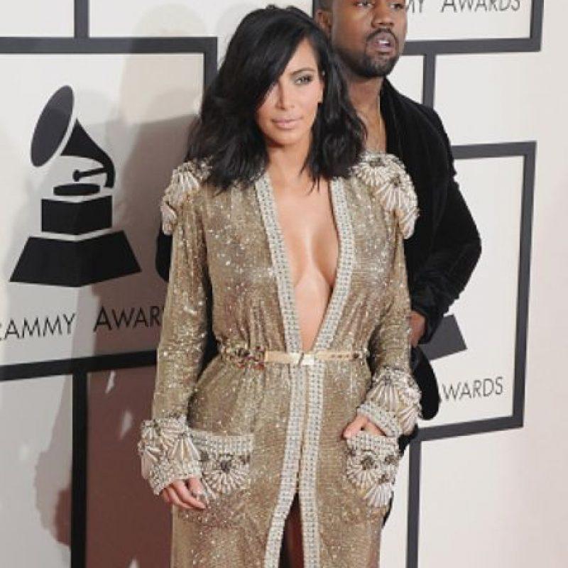 Tanto como el de su hermana Kim en los Grammy. Foto:vía Getty Images