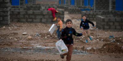 """Los niños son llamados """"Cachorros del califato"""". Foto:Getty Images"""