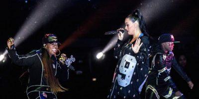 """La siguiente invitada de la noche fue Missy Elliott, quien interpretó las canciones: """"Get Ur Freak On"""", Work It"""" y """"Lose Control"""" Foto:Getty Images"""