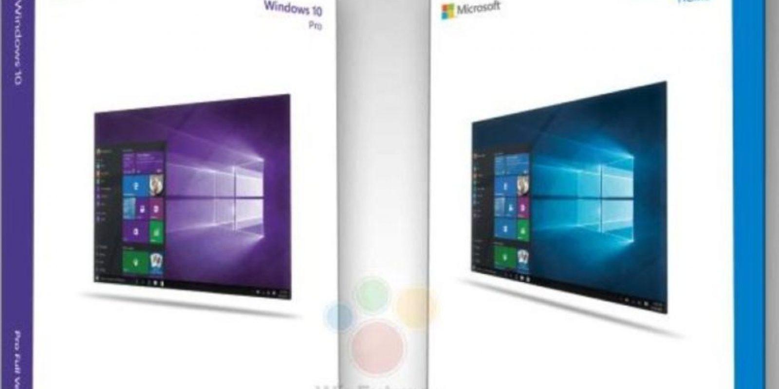Las cajas de Windows 10. Foto:Twitter