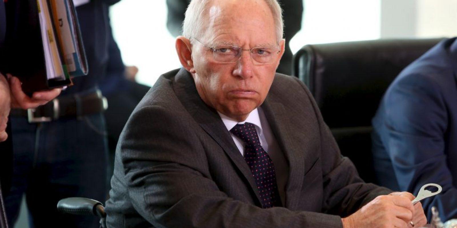 Wolfgang Schäuble, fue una de las personas que quería que Grecia saliera de la eurozona durante cinco años. Foto:Getty Images