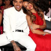 2. Rihanna y Chris Brown. Foto: Getty Images
