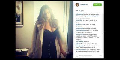 """La actriz colombiana causó gran controversia al declararse: """"Algo rechoncha en la sesión de fotos de hoy"""". Foto:vía instagram.com/sofíavergara"""