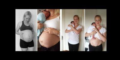 Julie Boshale mostró cómo cambió su cuerpo después de tener a su segundo hijo. Foto:vía Facebook /Julie Boshale