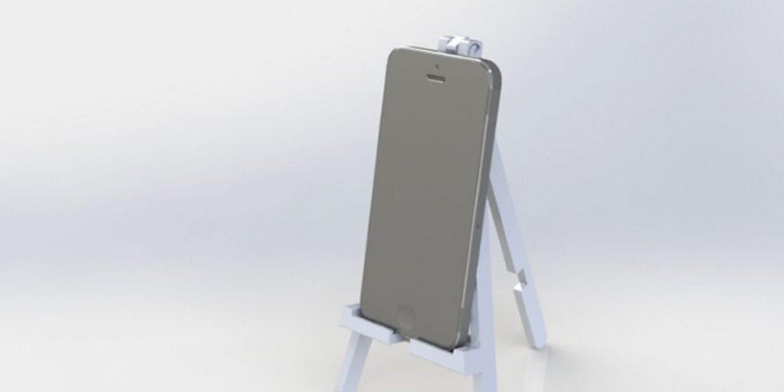 Bocinas y soportes para cargar batería impresos en 3D Foto:Pierre Cerveau