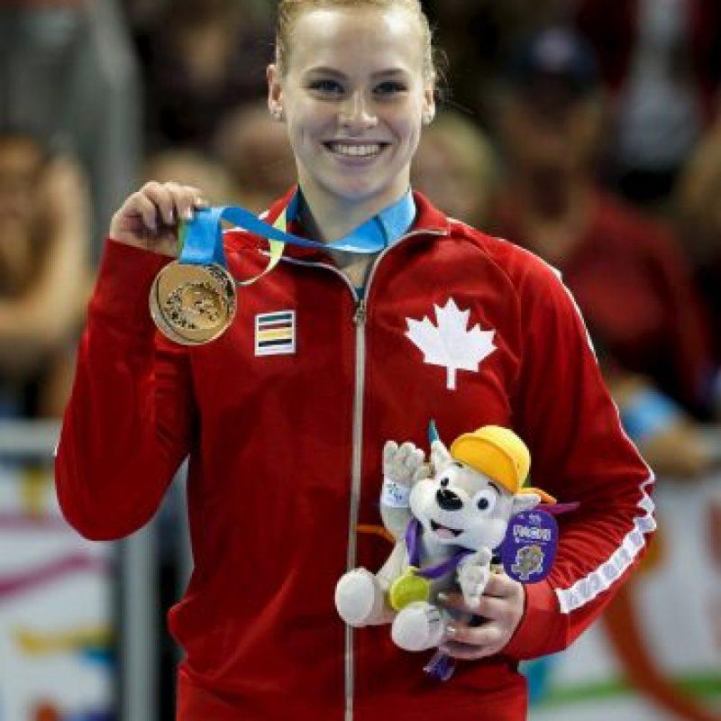 Ellie Black de Canadá, medalla de oro en viga de equilibrio. Foto:Getty Images