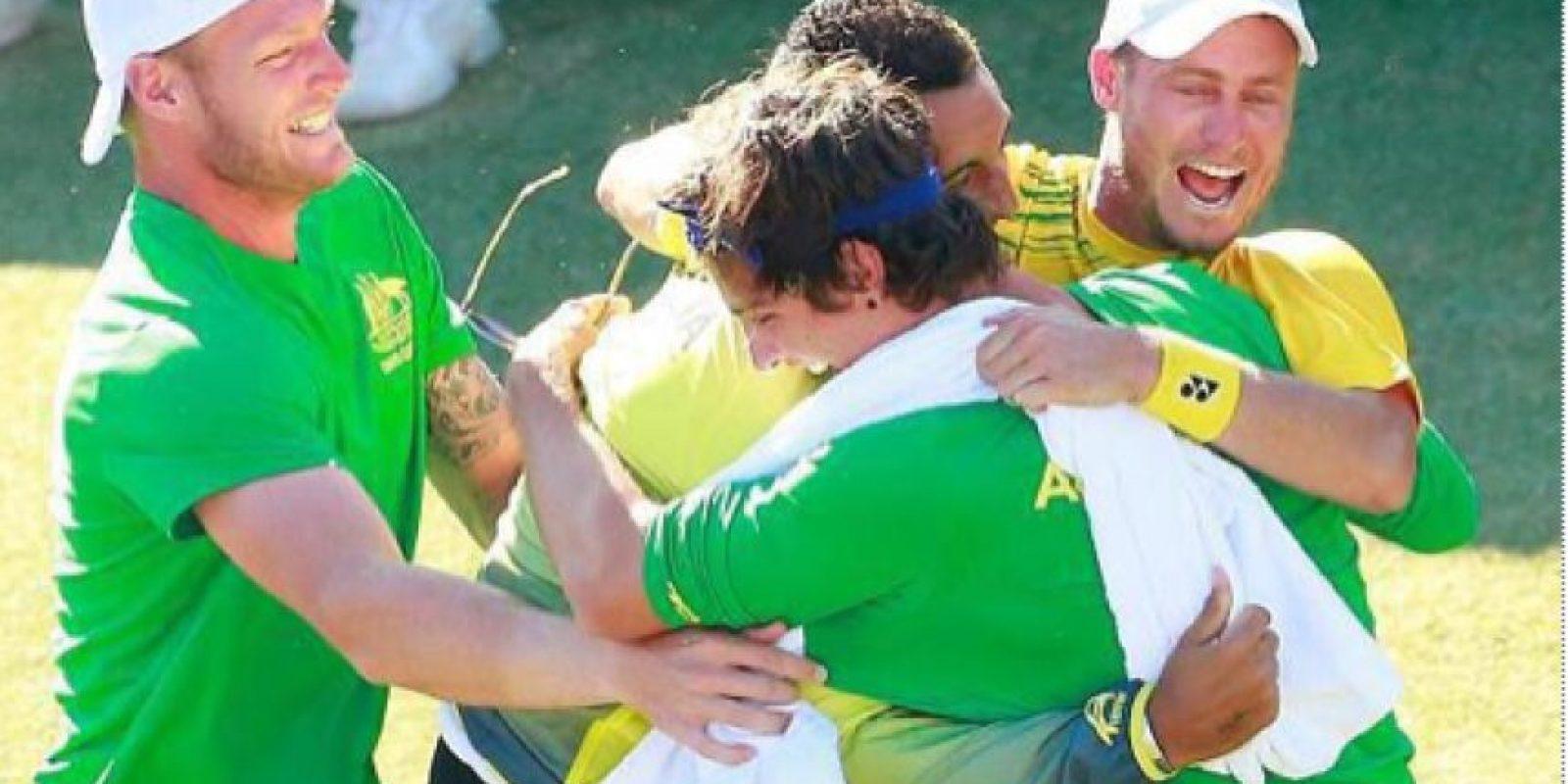 Australia perdía 2-0, pero con Lleyton Hewitt como referente le dieron la vuelta al marcador
