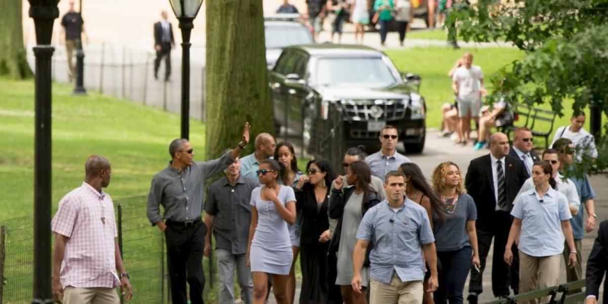 Barack Obama y su hija pasearon por Central Park