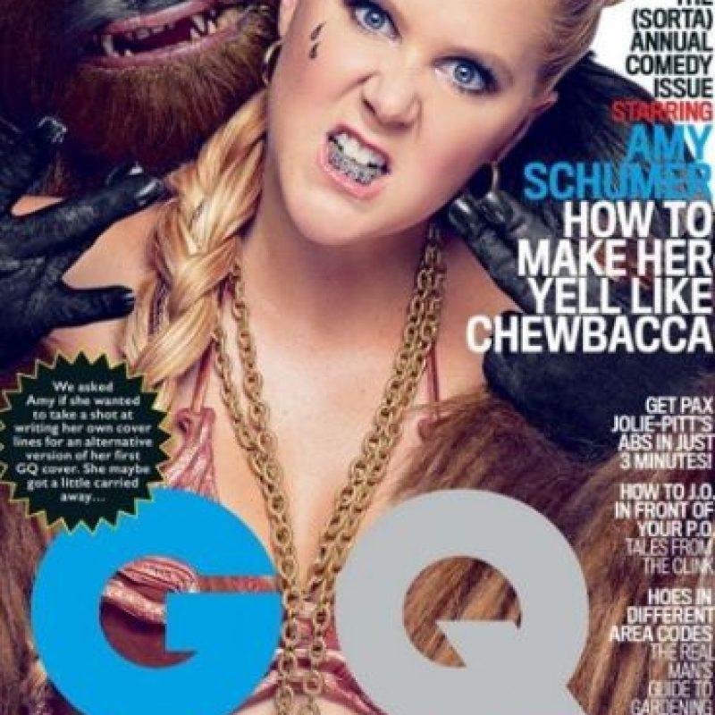 """Hace unos días fueron publicadas unas fotos en las que la comediante Amy Schumer luce caracterizada como la """"Princesa Leia"""" de """"Star Wars"""". Foto:Revista """"GQ"""""""